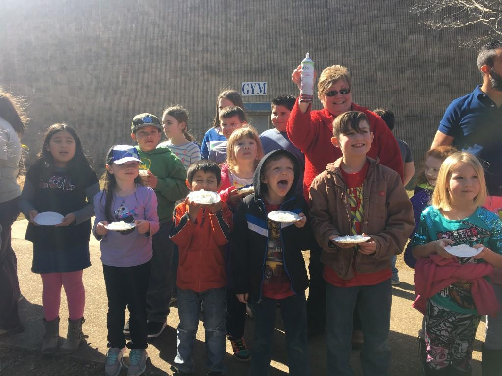 More students with pie