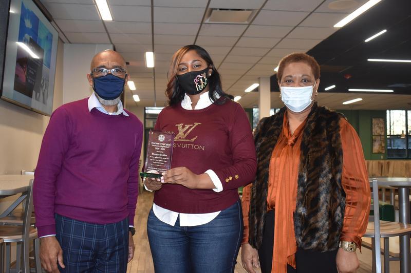 Denman Jr. High School Teacher of the Year, Ebonee Felder, was awarded the John Brady Service Award in Memory of Dr. Leslie Daniels for 2020-2021.