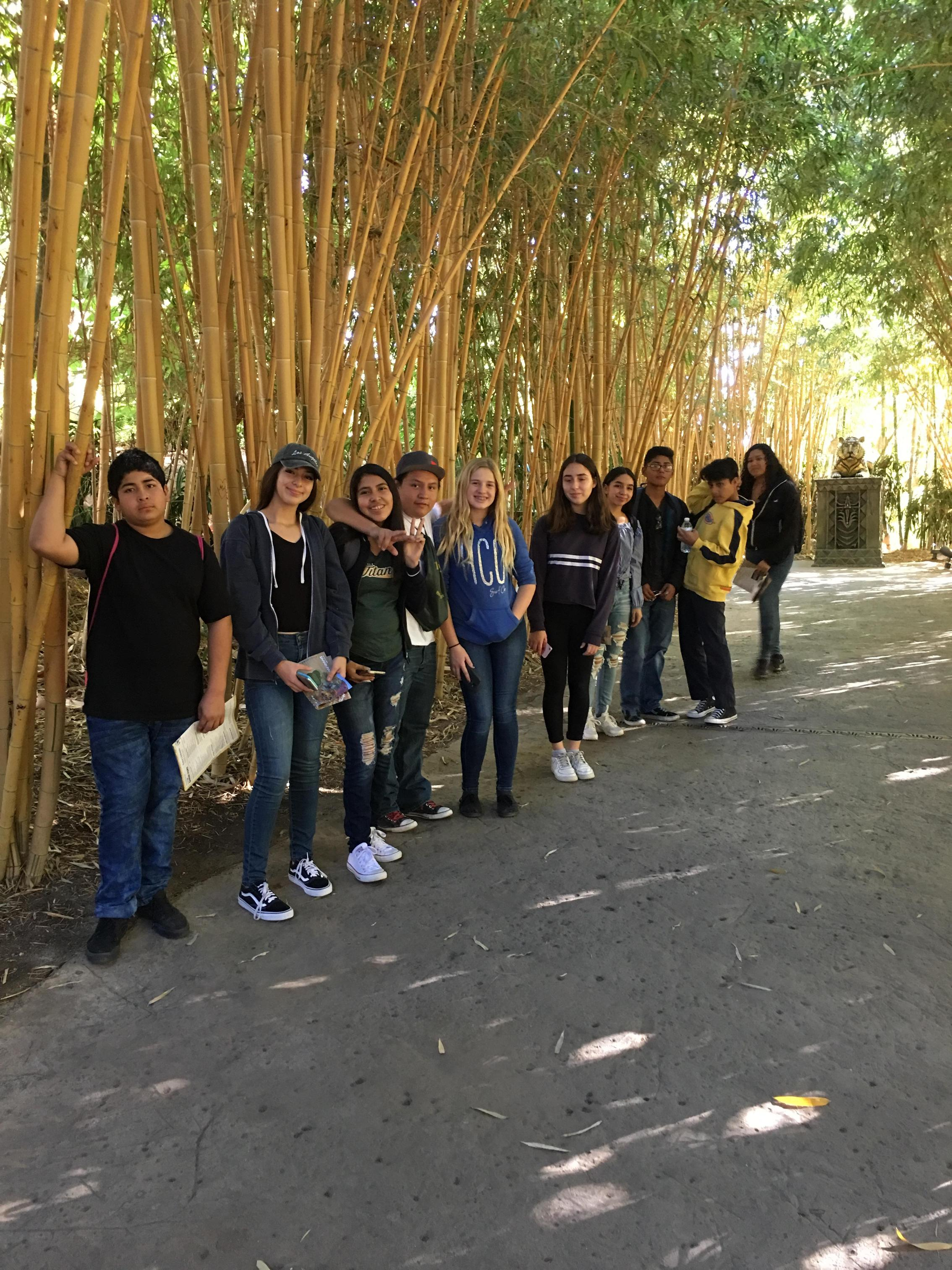 Honors Biology Students at Safari Park