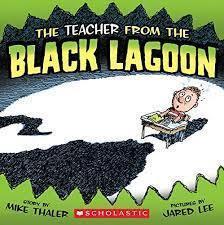 black spot with school desk near