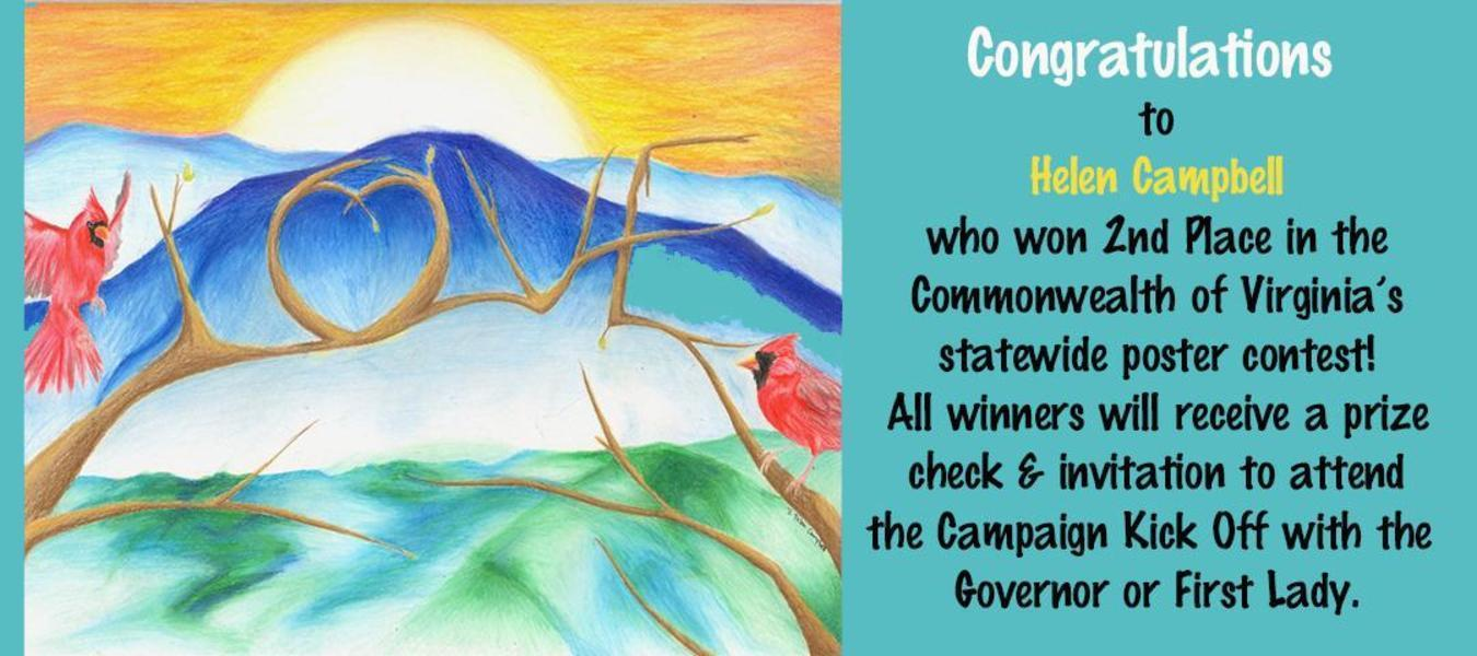 Congratulations to Helen Campbell for placing 2nd in the VA poster contest.