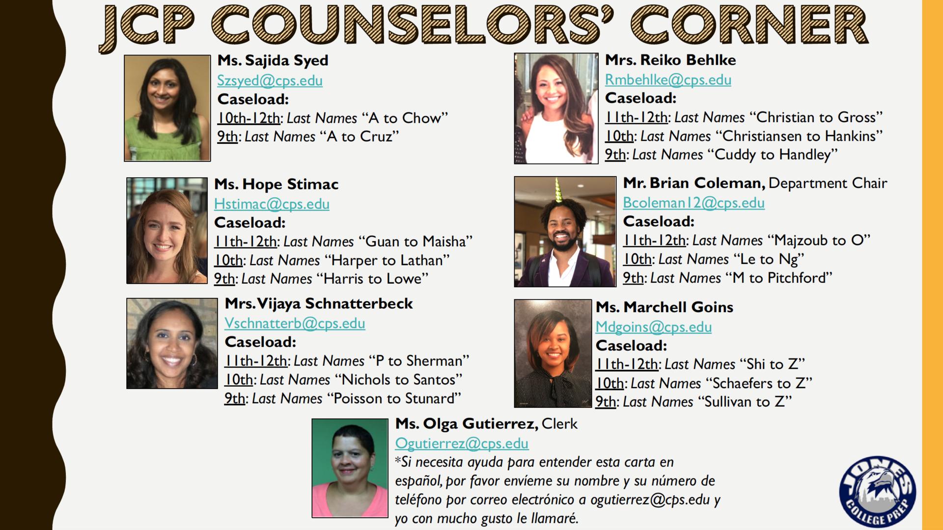 Image JCP Counselors' Corner