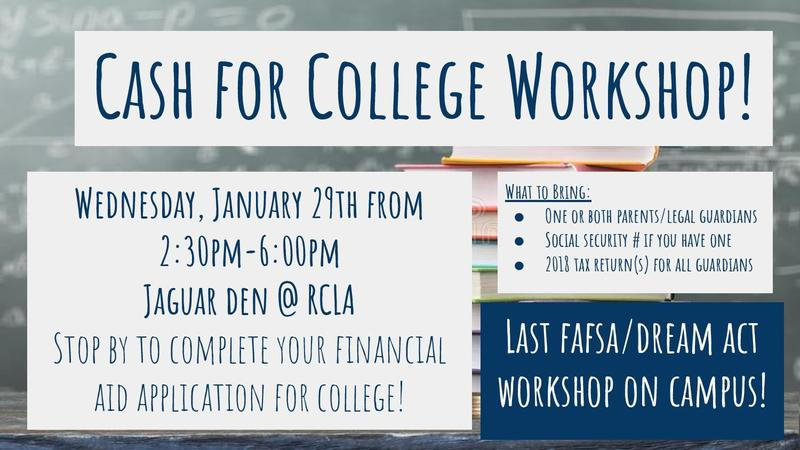 Cash for College Workshop! Featured Photo