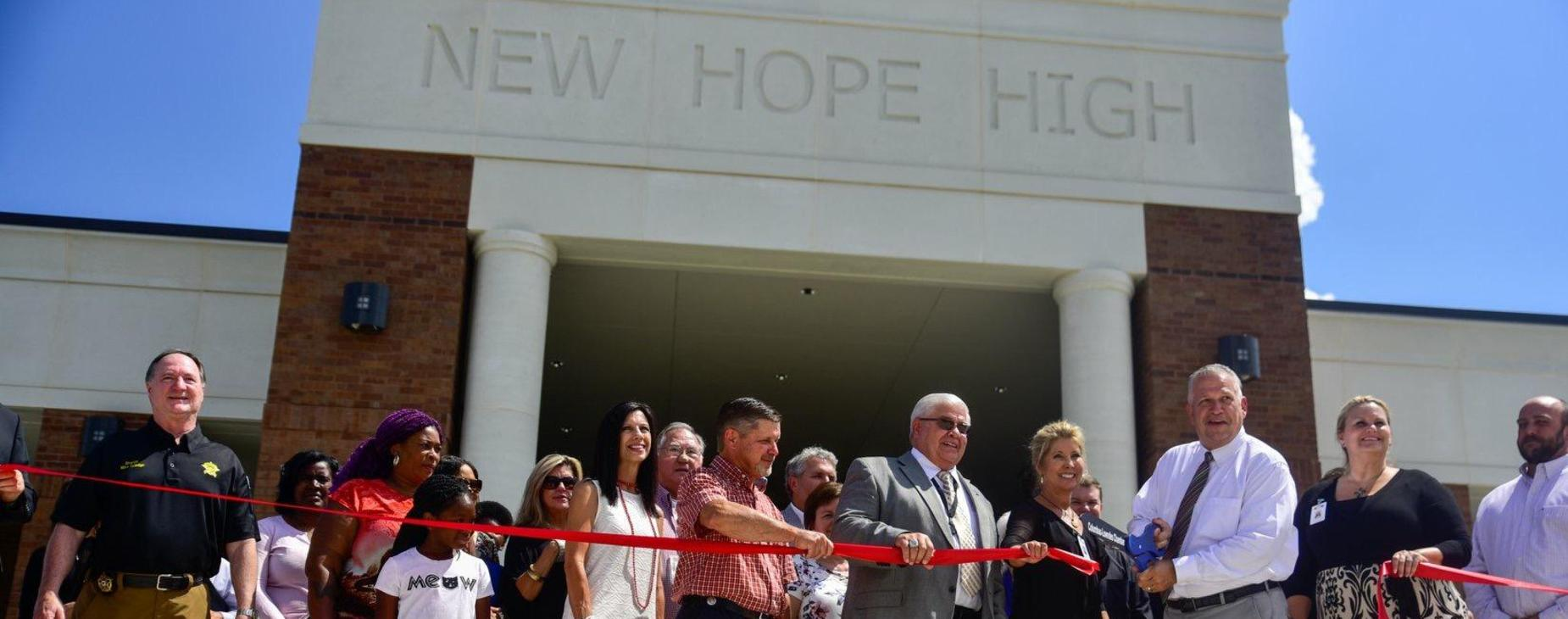 Ribbon Cutting at New Hope High School