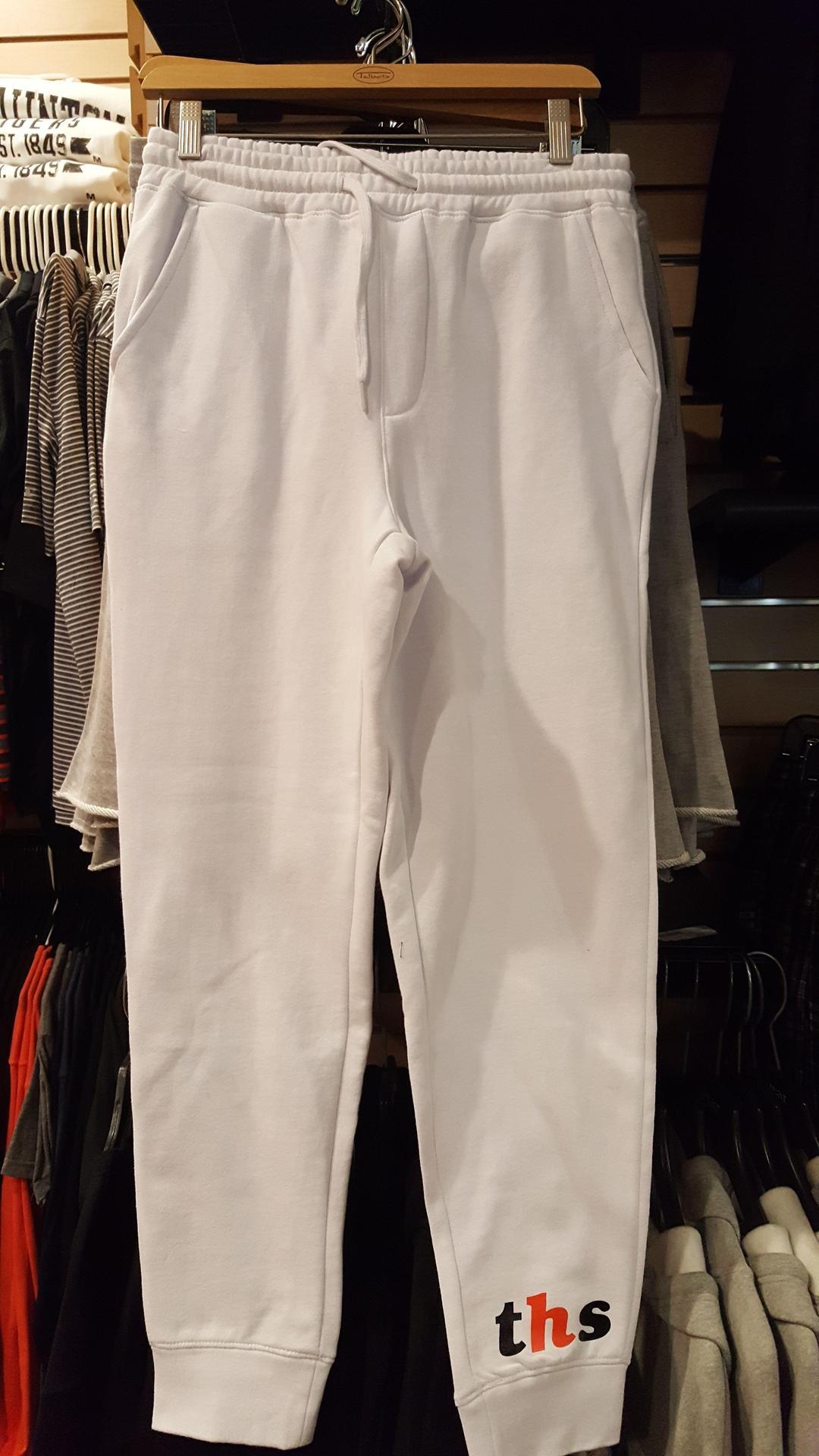 $35.00   White Cotton Joggers  Unisex  SMall Thurs XXL