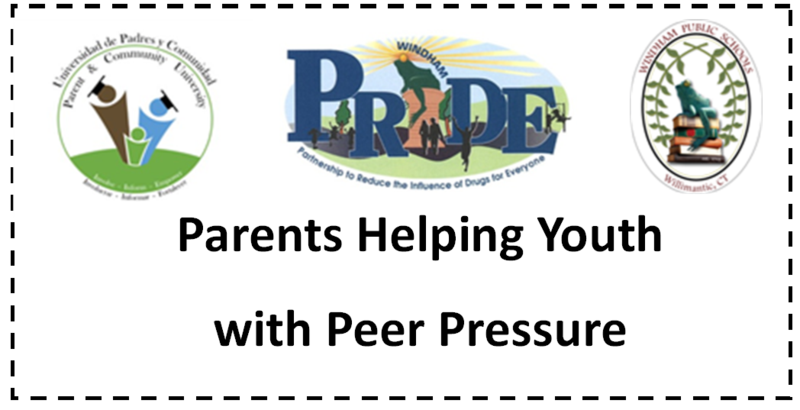Workshop April 24: Parents Helping Youth with Peer Pressure Thumbnail Image