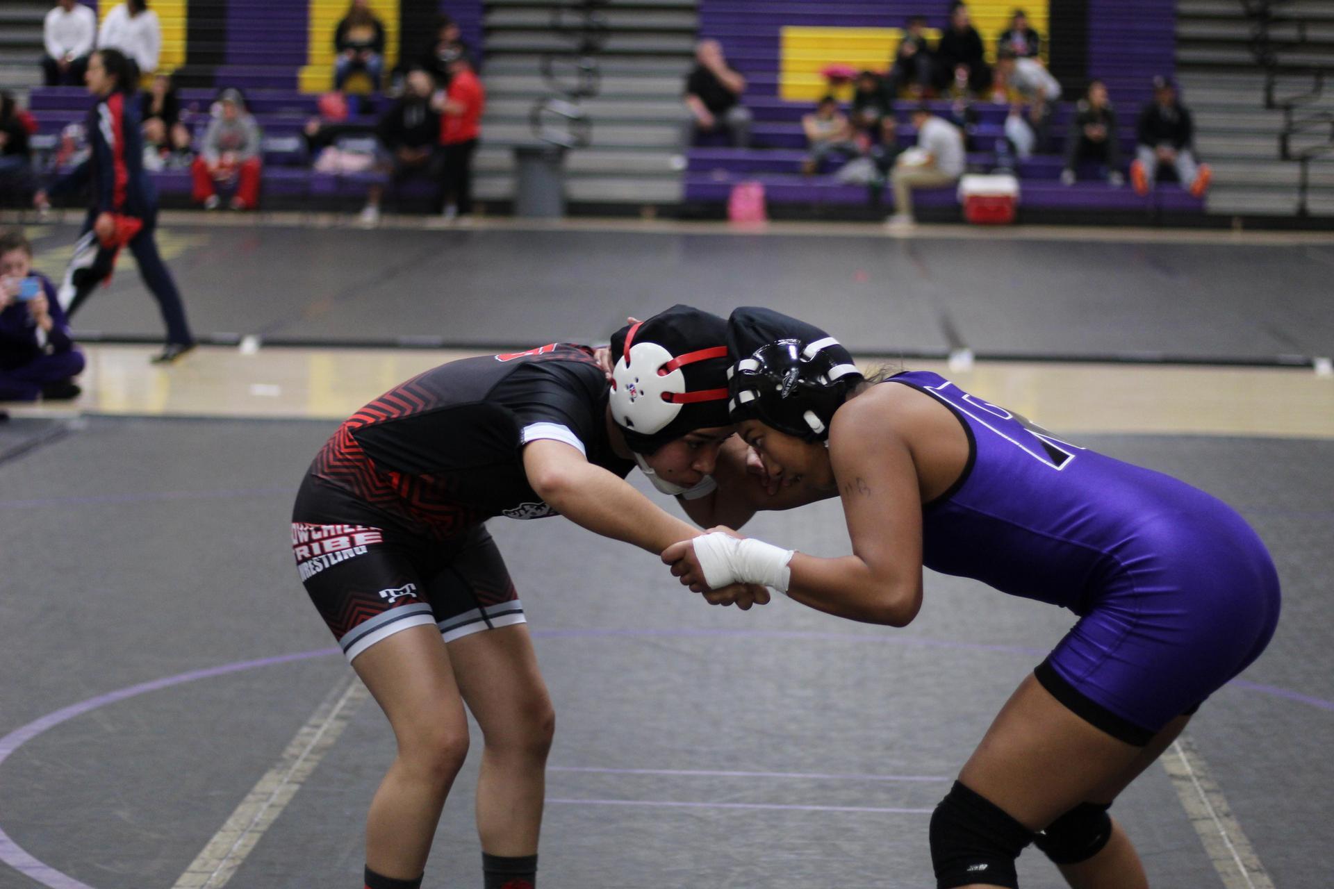 Sophia Correa wrestling
