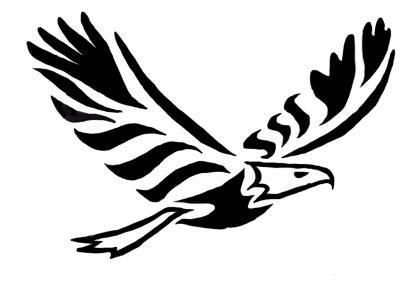 Black and white eagle drawing