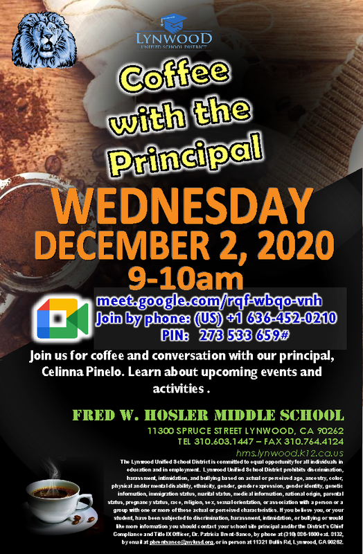 Coffee with the Principal Meeting Featured Photo