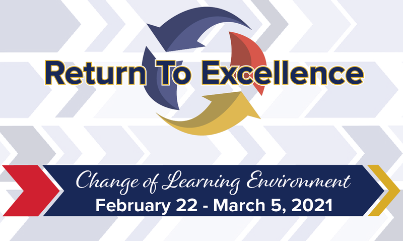 Change of Learning Environment February 22 - March 5,2021