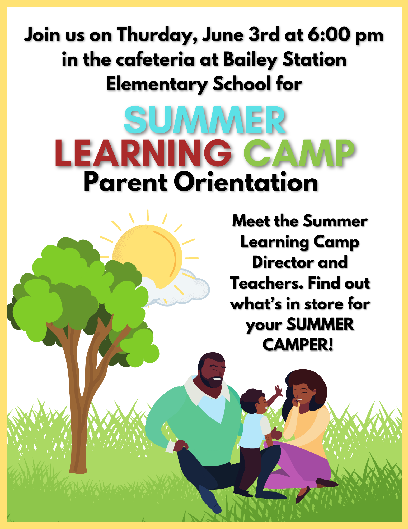 Summer Learning Camp Info