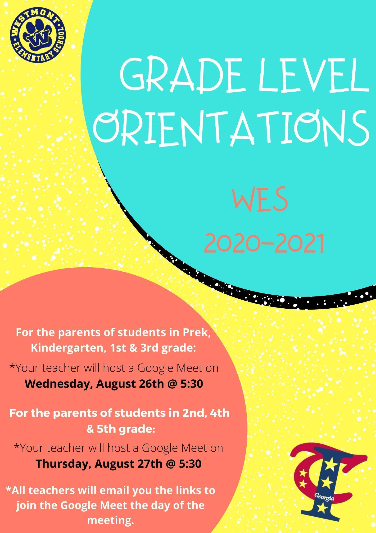 WES orientation English