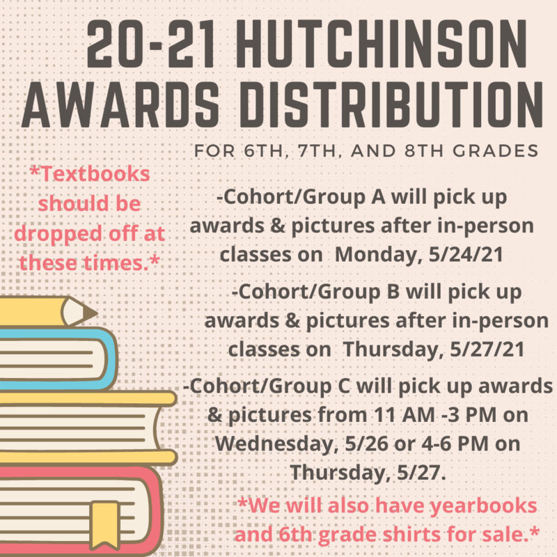 Awards Distribution, Picture Pick-up, and Textbook Drop-off Featured Photo