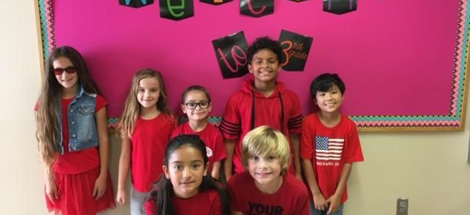 Wearing red to support Dyslexia Awareness