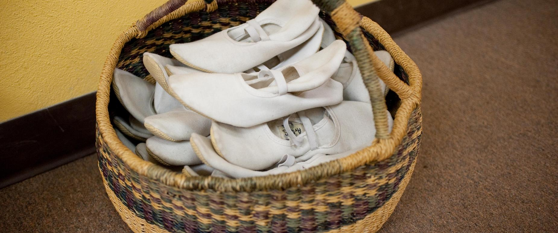 basket of eurythmy slippers