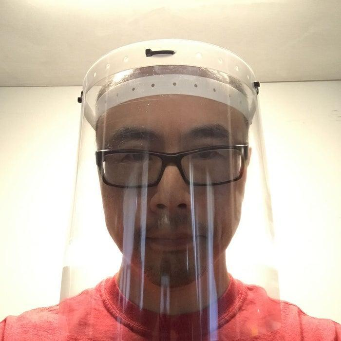 Instructables- how to make a face shield using common materials Thumbnail Image