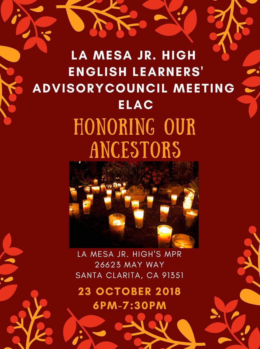 ELAC Meeting Oct 23 6-7:30 Featured Photo