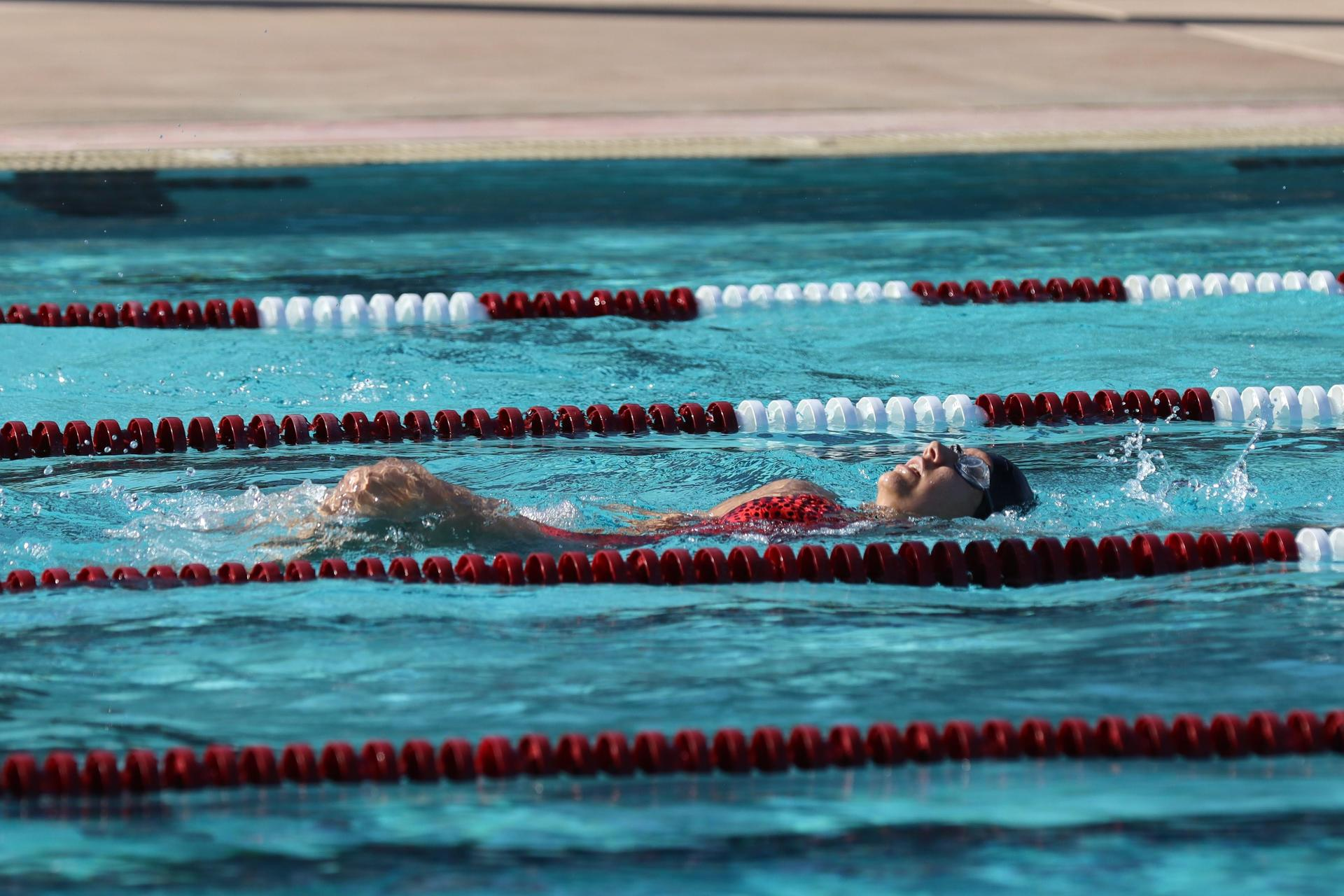 swimmers in the pool