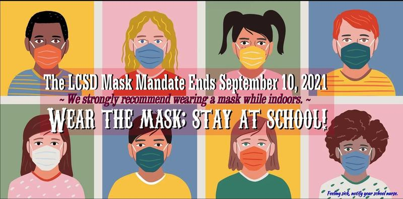 LCSD Mask Mandate Set to End Graphic