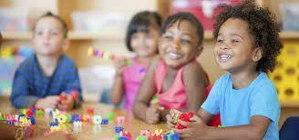 Smiling preschoolers