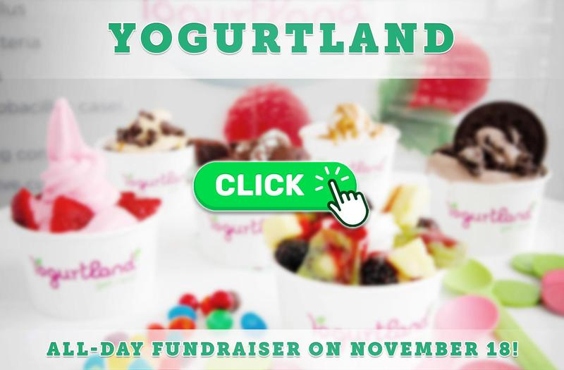 Yogurtland Fundraiser on November 18 (All Day)