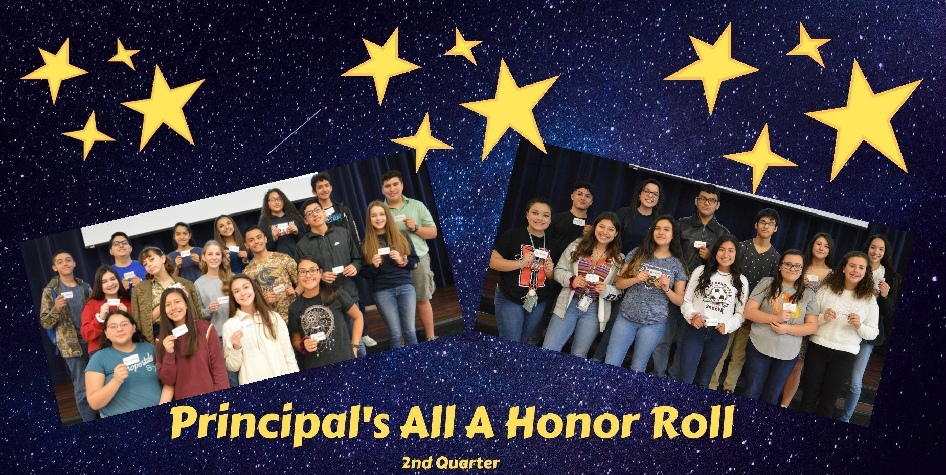 Principal's All A Honor Roll