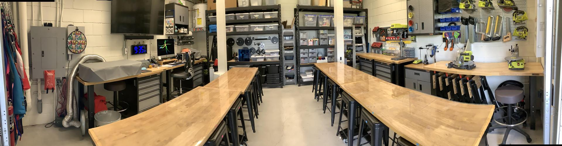 Panoramic view of the maker space