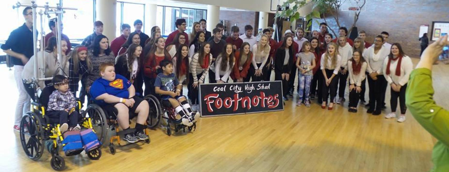Visit to shriners hospital by CCHS Footnotes