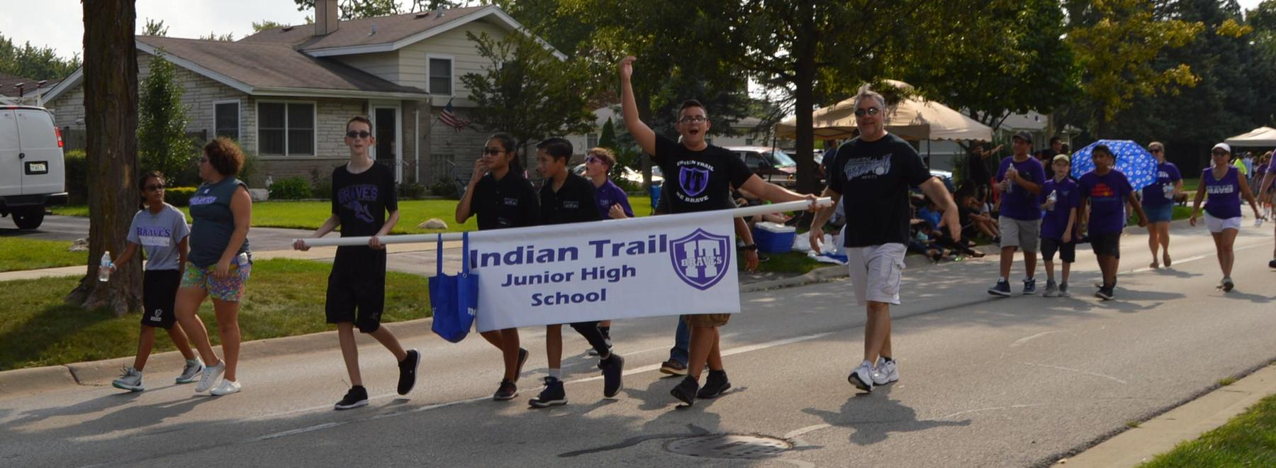 Indian Trail in parade