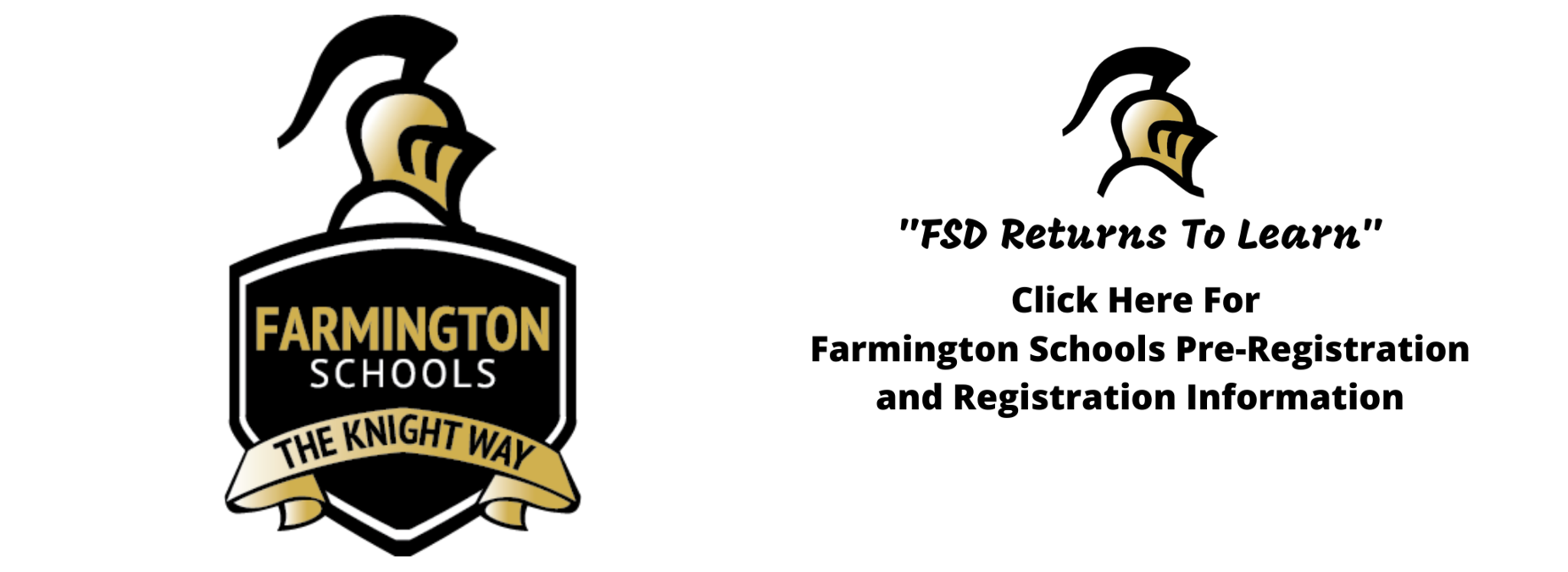 Click Here For Farmington Registration Information