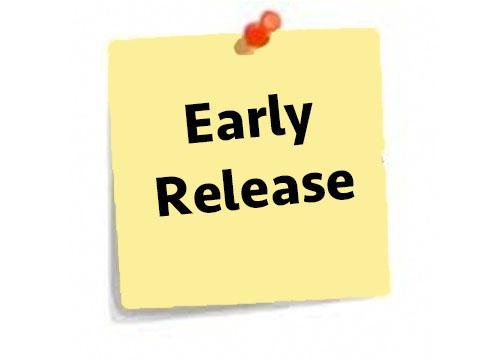 Early Release Information for 2021-2022 School Year Thumbnail Image