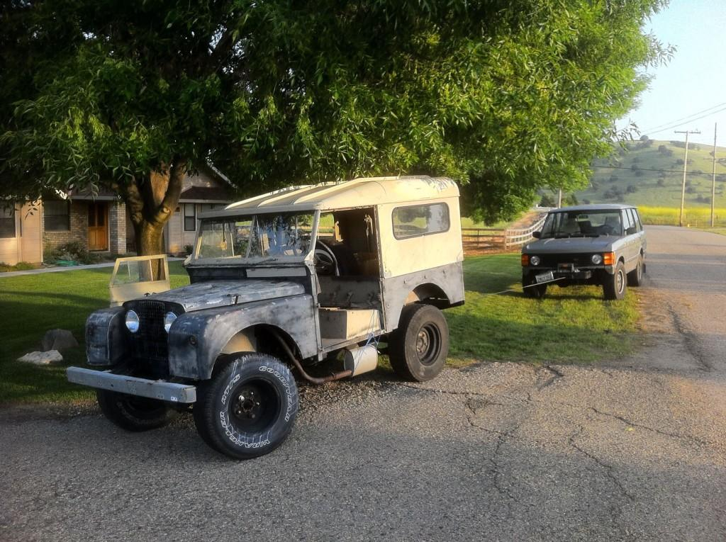 Moving the old Land Rovers around