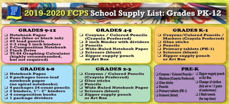 2019-2020 School Supplies Lists Thumbnail Image