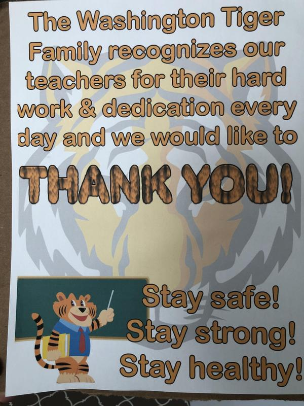 Thank you teachers poster
