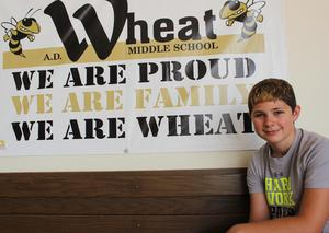 Wheat MS 8th grader Nick Earley