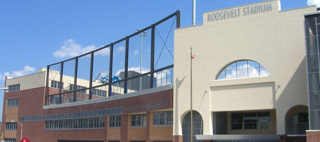 Roosevelt stadium facade