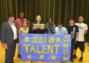 Group of students at the Talent show