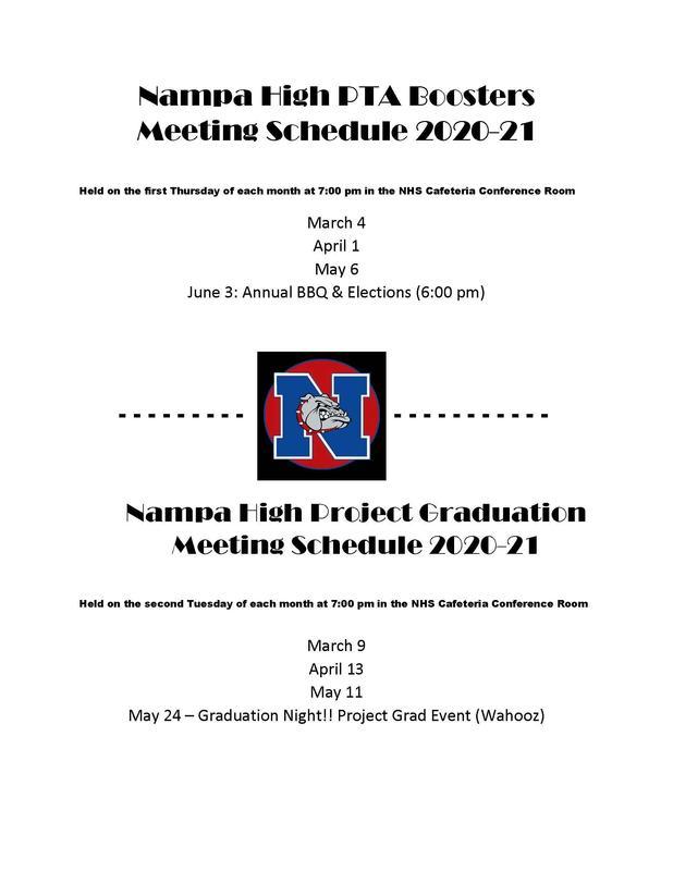 Booster Club/Project Grad Flyer