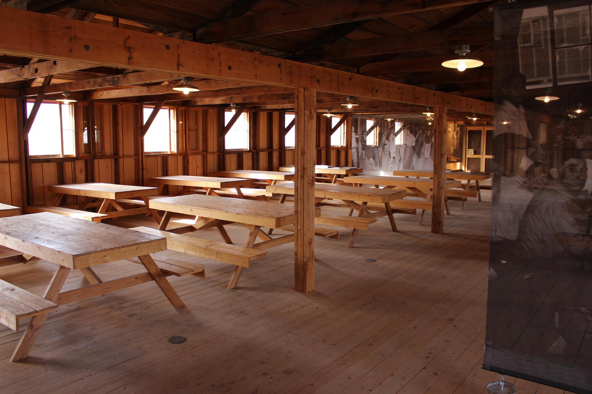 Manzanar Eating area