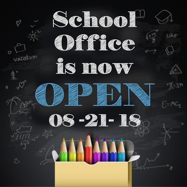 School Office Now Open! Featured Photo