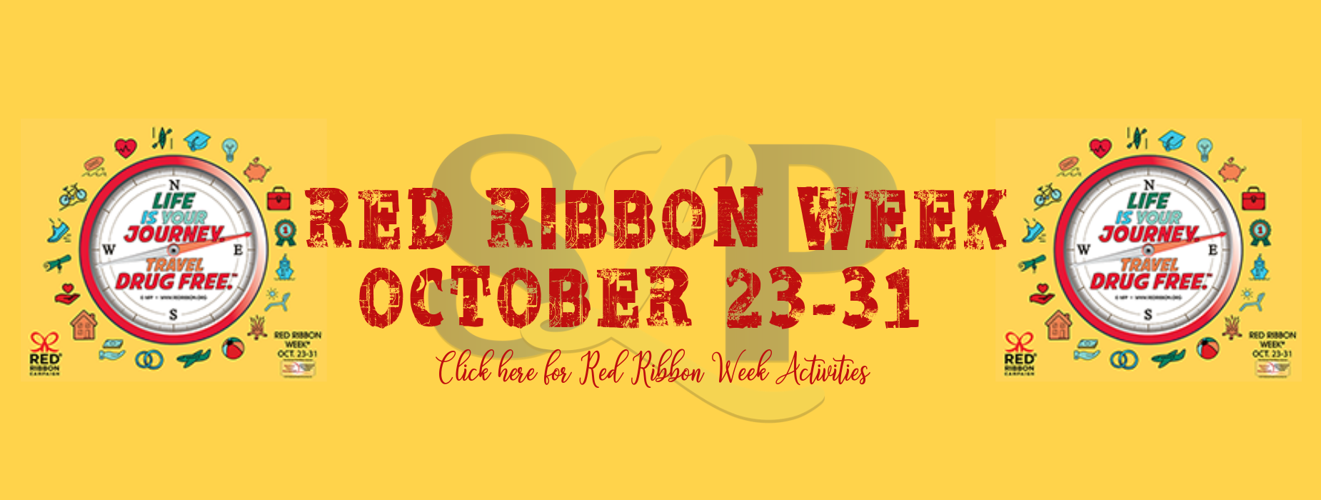 Red ribbon week oct 23-31  linked out to http://redribbon.org/