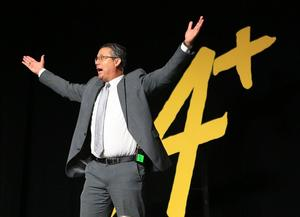 Dr. J.A. Gonzalez celebrates McAllen ISD's A Rating from the state