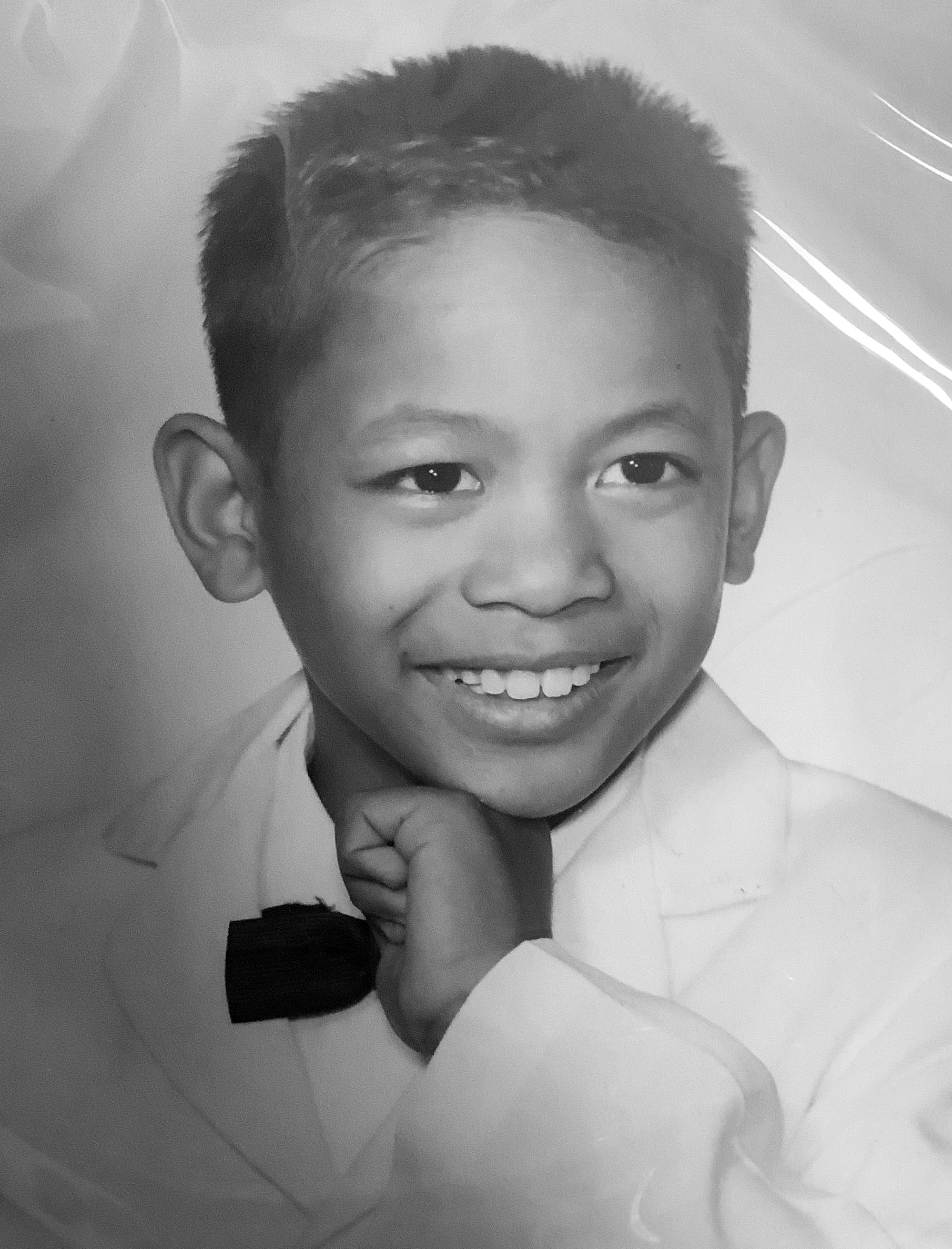 Mr. Cacanindin as a child