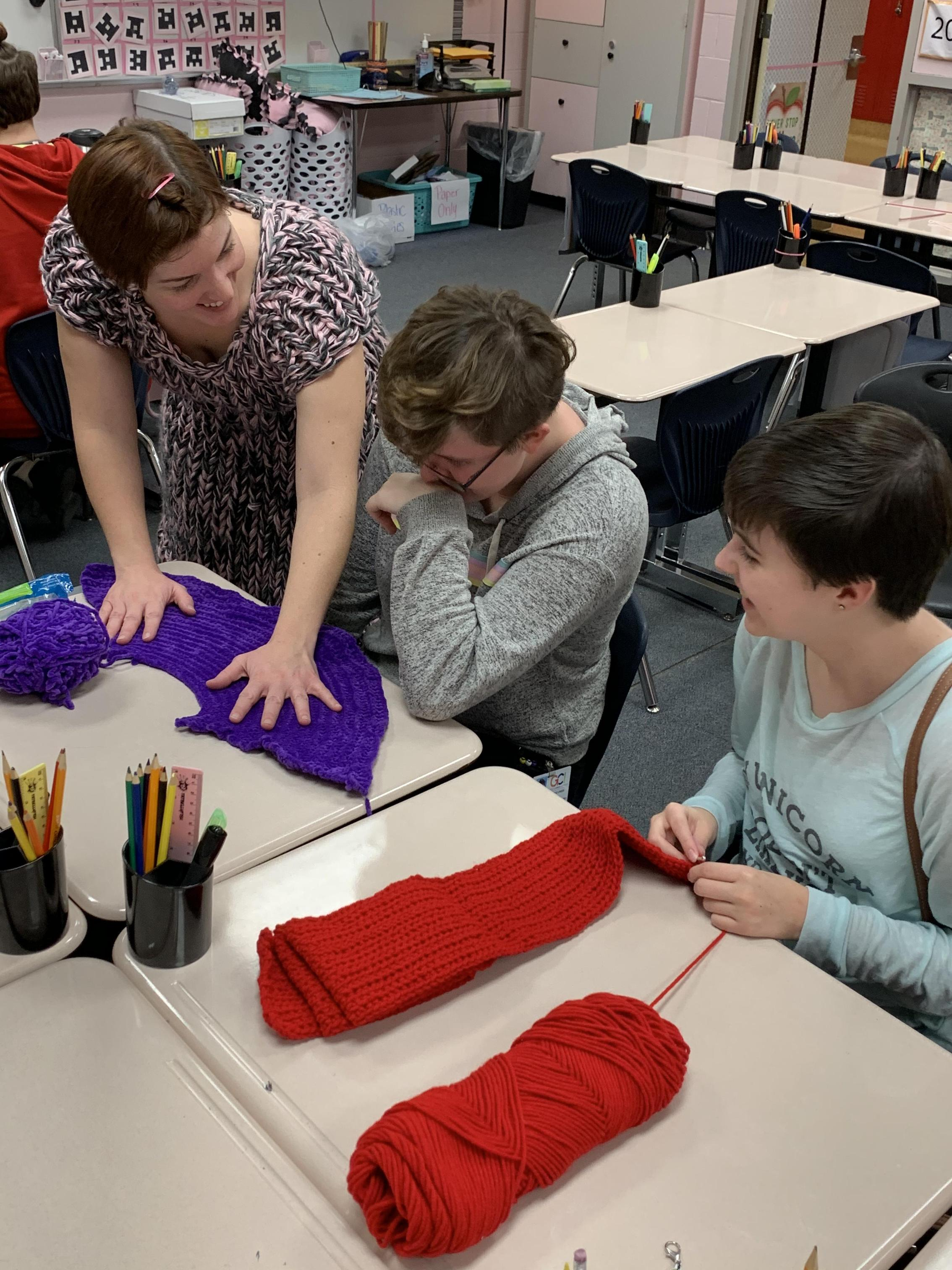 Chronicles of Yarnia Club enjoys yarn-related crafts at a recent meeting.