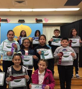 Winners of science fair competition.