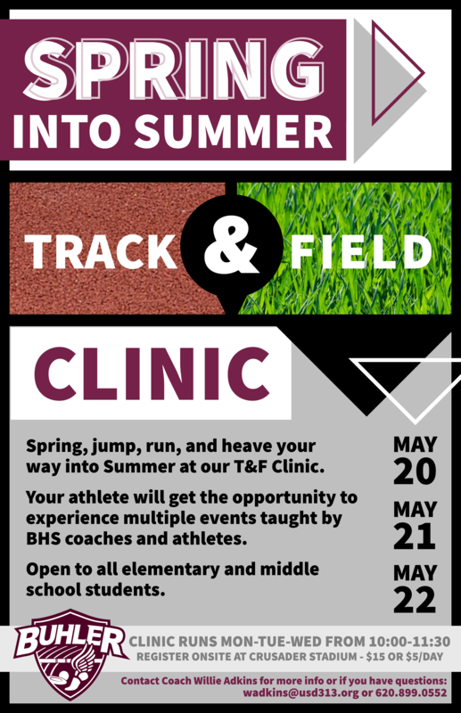 Track & Field Kid Clinic Flyer