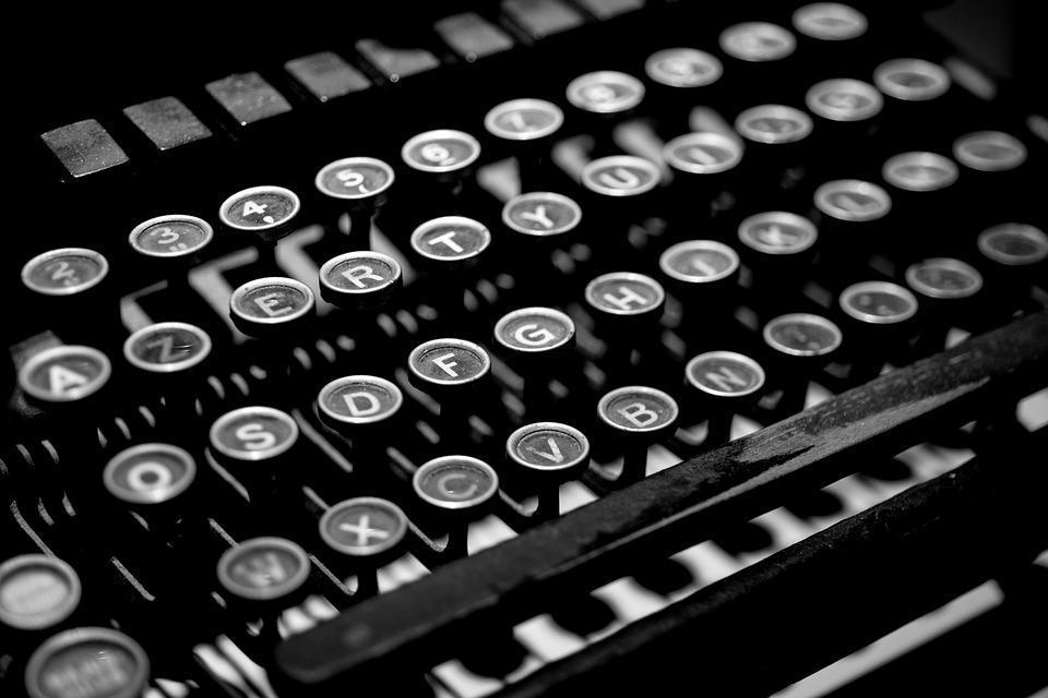 closeup image of old typewriter