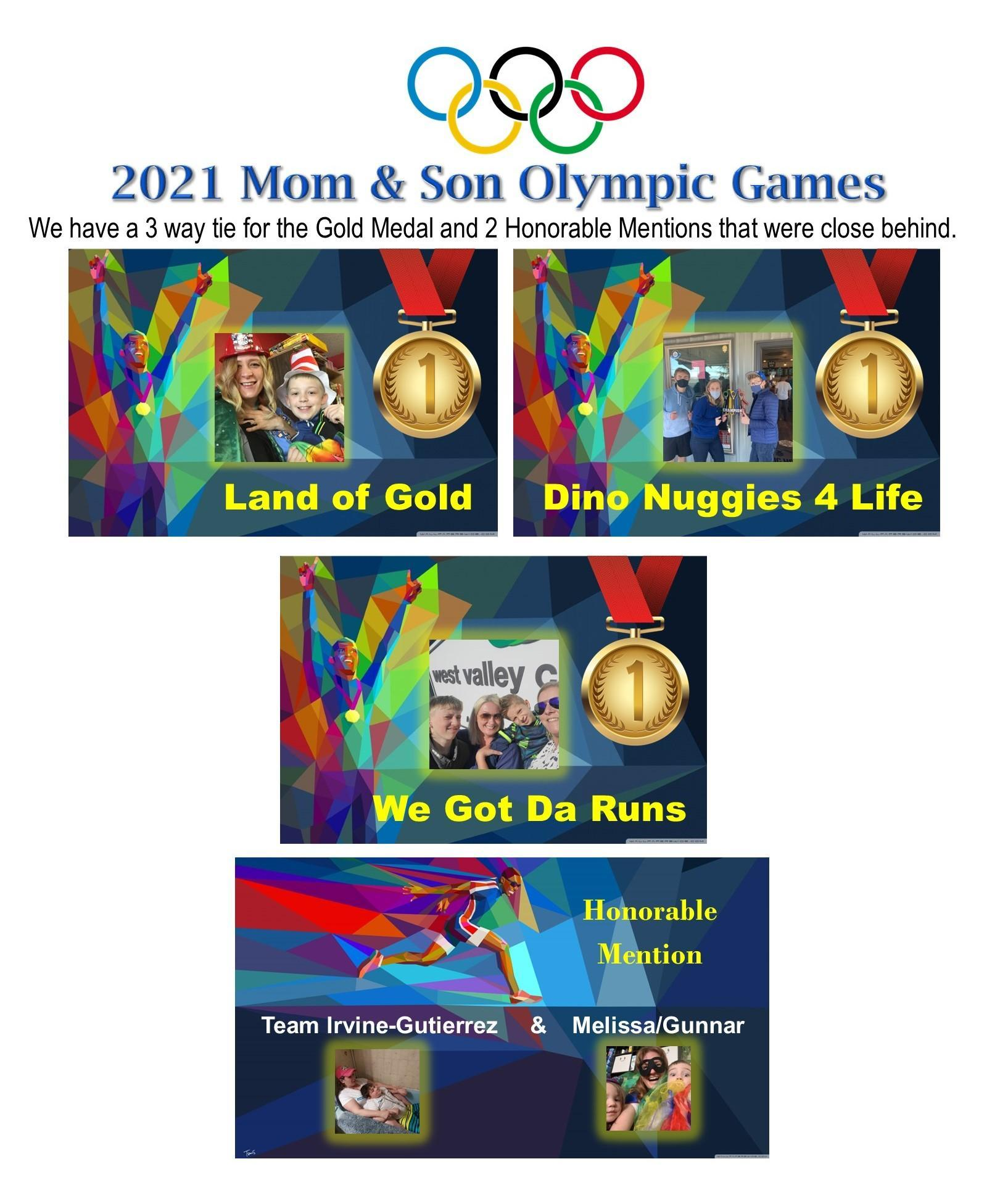 Mom & Son Olympic Games 2021 Medalists