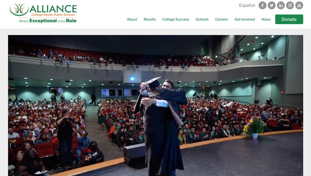 Alliance College-Ready Public Schools website design