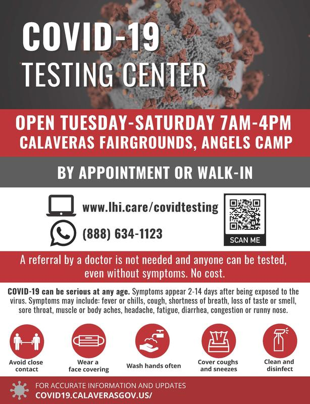COVID-19 Testing Info flyer